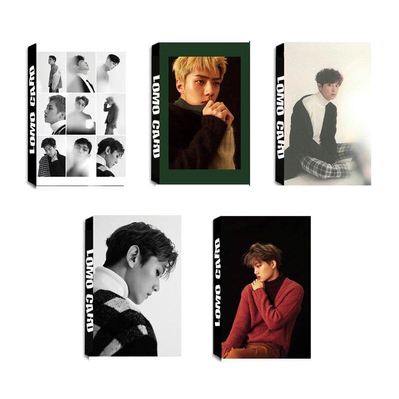 Youpop KPOP EXO For Life KAI SEHUN CHANYEOL SEHUN Album LOMO Cards Self Made Paper Photo Card HD Photocard LK441