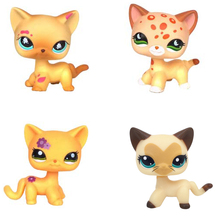 pet shop lps toys short hair cat Collections 816 852 cute rare kitty standing free shipping