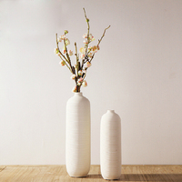 Simple plain screw thread flower vase with Ceramic Vase TV cabinet household decoration white drawing Vases