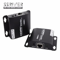 SSRIVER 5pcs/lot LKV372A 60m HDMI Extender Transmitter+Receiver Sender with RJ45 LAN CAT6 Signal Network Cable For DVD PS3