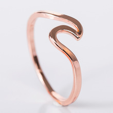 Alloy Wave Designed Ring