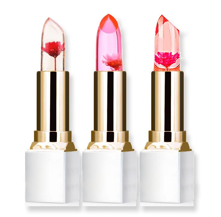 2018 Wholesale Transparent Natural Red Lip Stick Temperature Color Change Long-lasting Moisturizer Flower Jelly Lipsticks Makeup