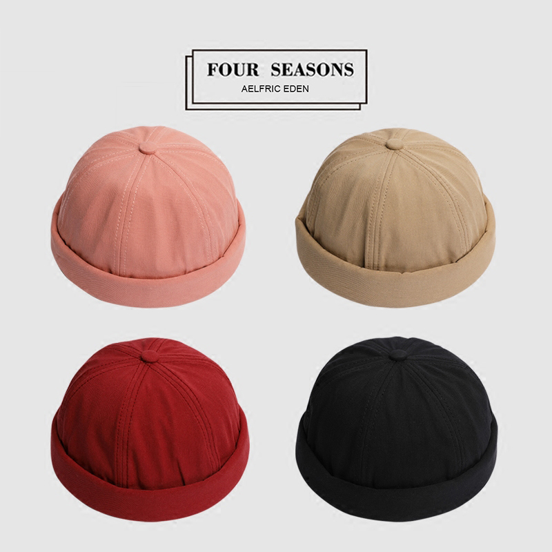Aelfric Eden Winter Chinese-Style Round Hats Men Women Fashion Fedora Harajuku   Skullies     Beanies   Solid Color Adjusted Cap TF01