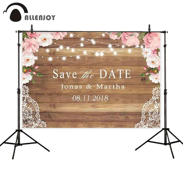 Allenjoy photography backdrop rustic wedding glitter wood flower party background custom photocall photobooth photo shoot prop