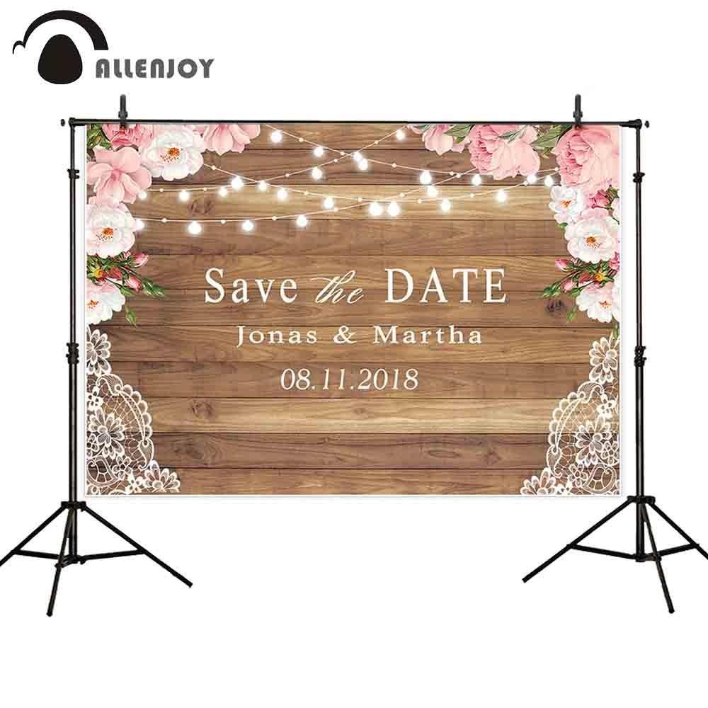 OMG/_Shop 5x7ft Beautiful Flowers Wedding Backgrounds Photographers Wood Floor Backdrop