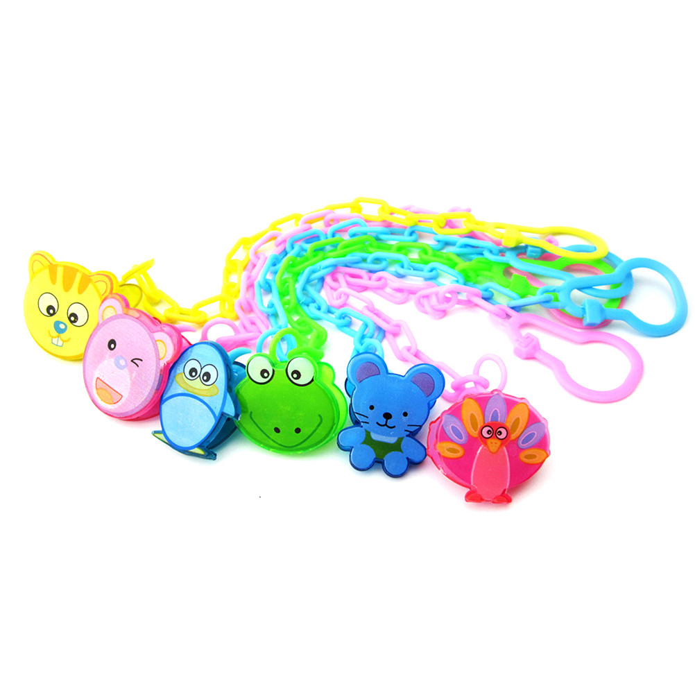 1PCS  13Styles To Choose Toddler Toy Gift 13cm Baby Infant Dummy Pacifier Soother Chain Clip Holder