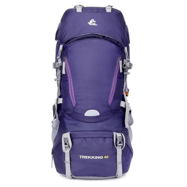 60L Sports de plein air sac à dos Camping sacs escalade sac à dos hommes femmes randonnée Trekking voyage sacs avec couverture de pluie