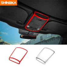 цена SHINEKA ABS Reading Light Lamp Decorative Cover Frame Trim  Ring Sticker Kit for Ford F150 XLT 2016+ Car Styling