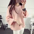 2016 Autumn Winter Loose Knitted Sweater Women  Jumper Women Sweaters And Pullovers Female Casual Full Femme JN910