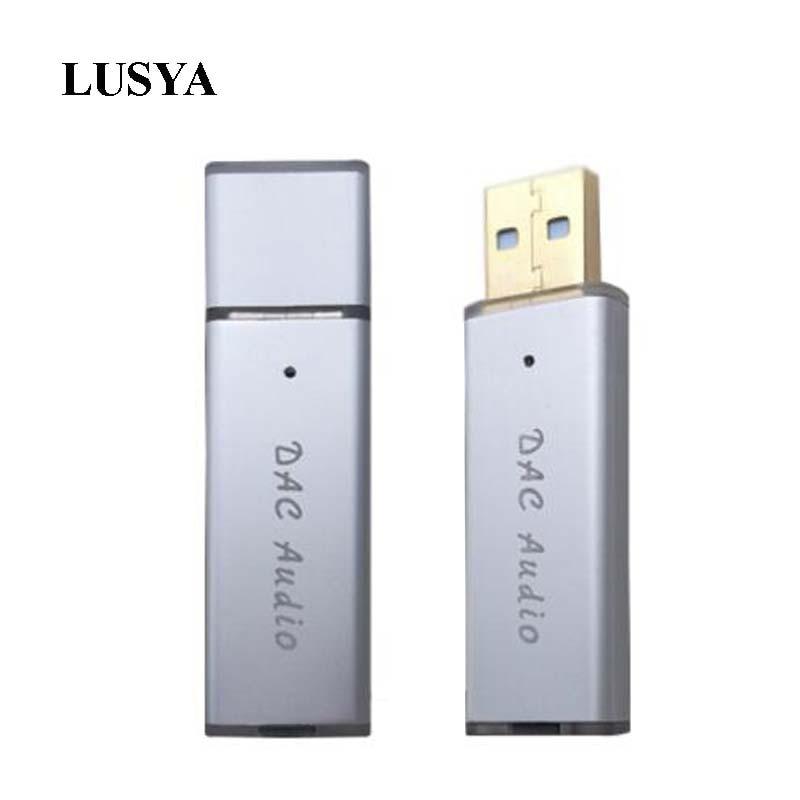 Lusya SA9023A + ES9018K2M USB portable DAC HIFI fever external audio card decoder for Computer Android Set Top Box A6-017