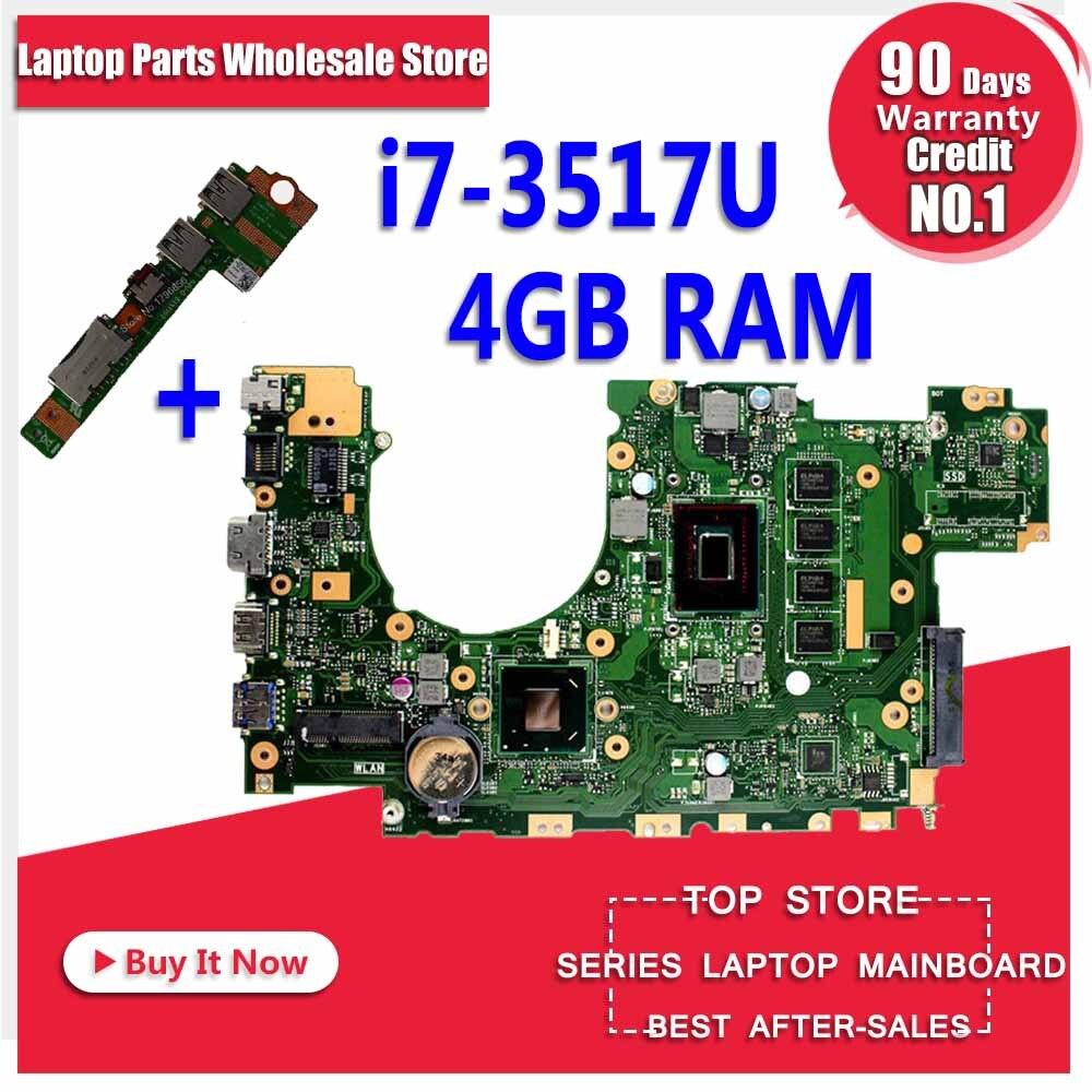 Отправить доска + X402CA материнской I7 3517 4G для ASUS x402c x502c X502CA Материнская плата ноутбука X402CA плата X402CA материнская плата
