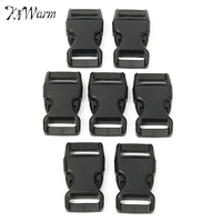 KiWarm 15 20 25mm 50Pcs Release Buckles Clasps Plastic Durable Low Friction Buckles For Paracord Backpack