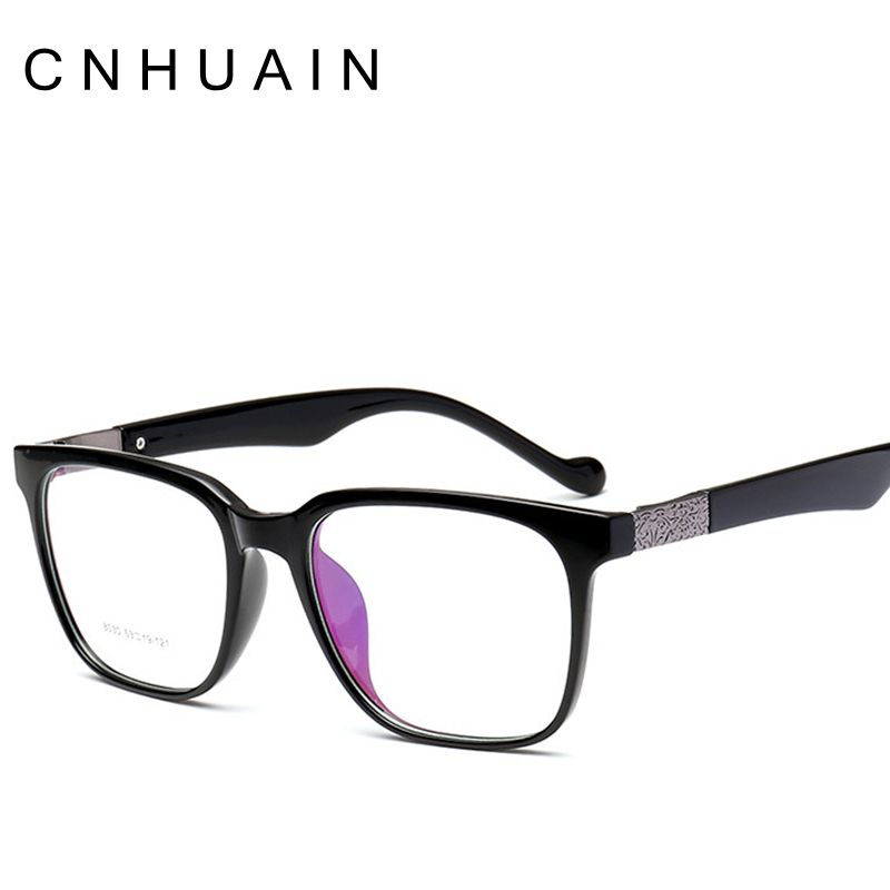 ⊹CNHUAIN TR90 Material Eyeglasses Men Brand Square Optical Frame ...