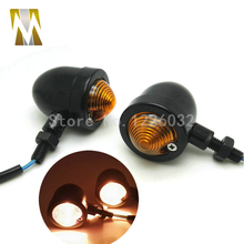 1 Pair Motorbike Retro Classic Turning Signals Motorcycle Round Turn font b Lamps b font indicators