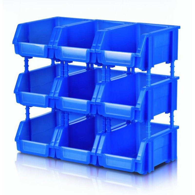 180x125x80mm Tool Organiser Box Bin Storage Rack Shelving Garage Storage