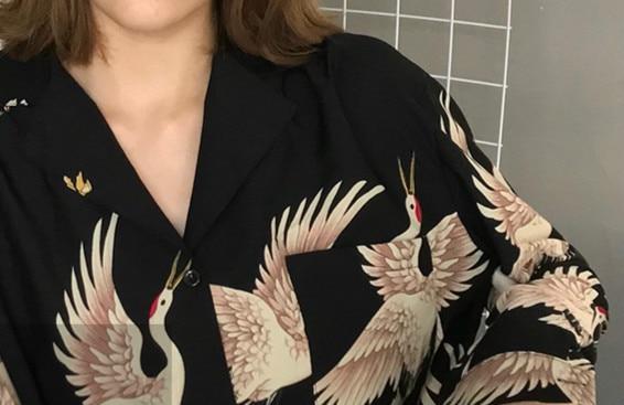 Vintage Printed Fashion Women Blouses 2020 women Long Sleeve Shirts print Chiffon blouse women ladies Loose Femme top 0845 30