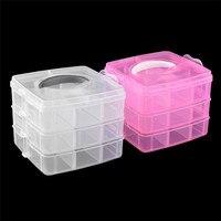 1pc 3 Layer Multi Utility Storage Case Professional Nail Art Box Manicure Kit Nail Tool Plastic