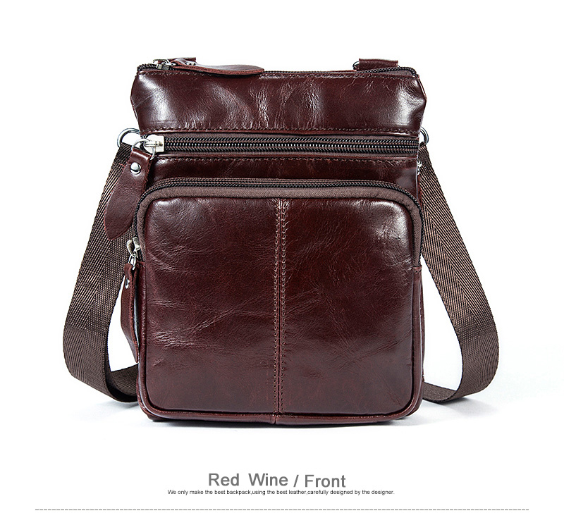 WESTAL Messenger Bag Men's Shoulder Genuine Leather bags Flap Small male man Crossbody bags for men natural Leather bag M701 13