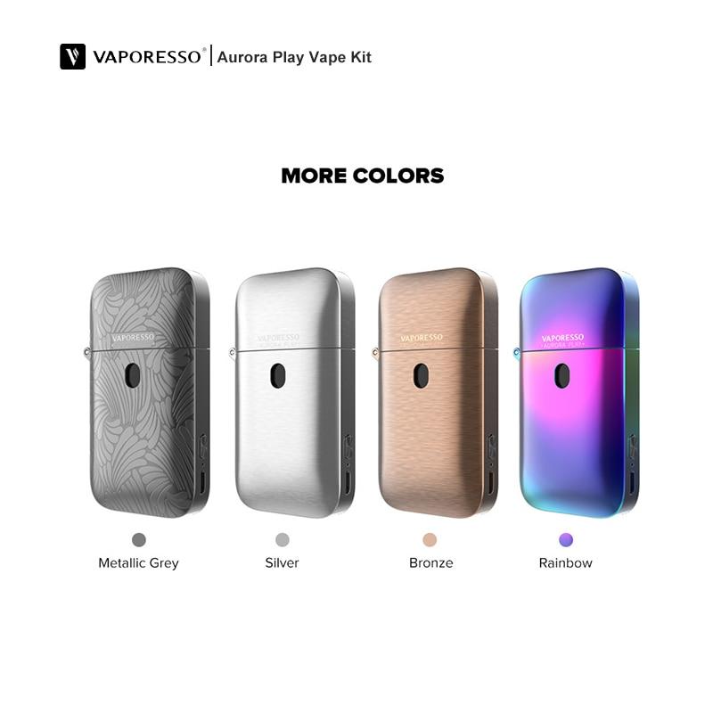 2019 Vaporesso Aurora jouer Pod lumière Vape 650 mah batterie presse à remplir conception 2 ml 1.3ohm Cigarette électronique Vape Kit