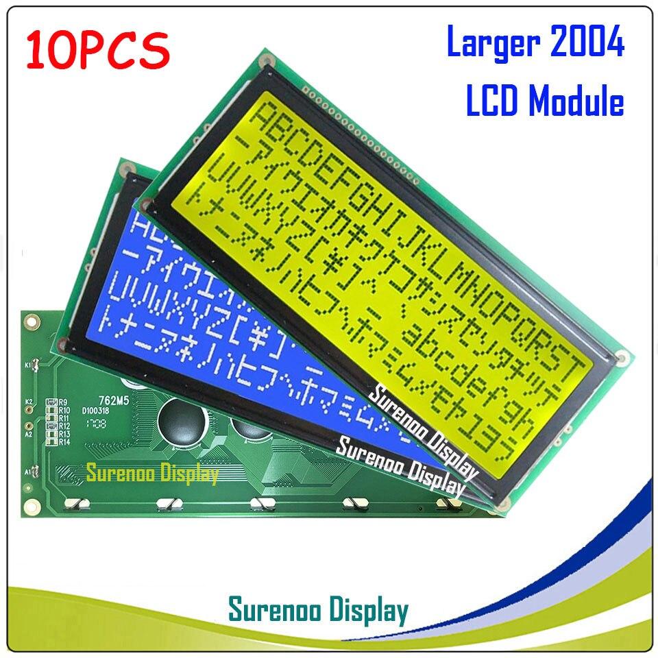 204 20x4 2004 Charakter Lcd Modul Display Lcm Gelb Grün Blau Mit Led-hintergrundbeleuchtung Lcd Module