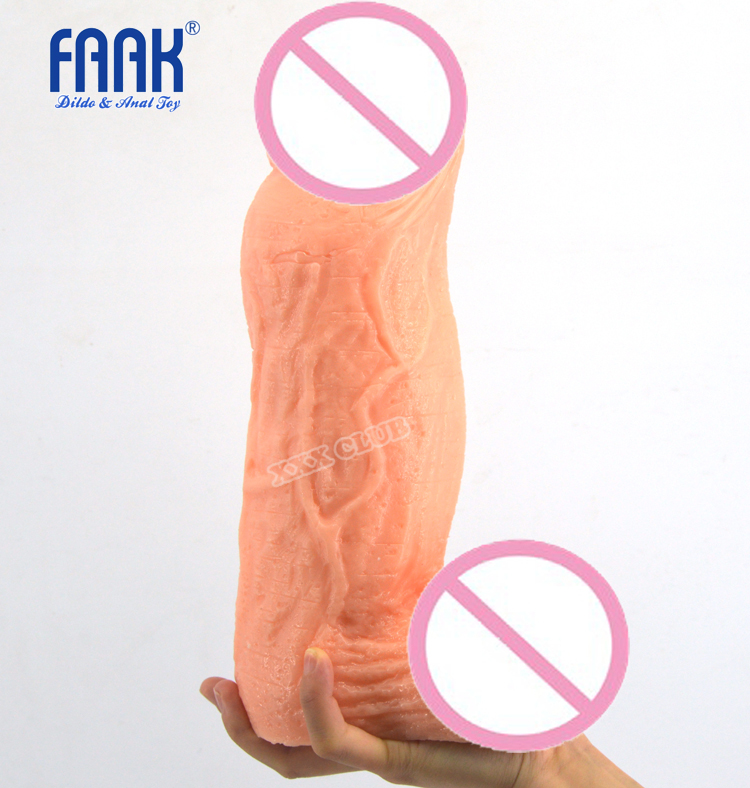 FAAK 27.5cm Super huge soft flexible dildo with big ball,thick penis sex dick,realistic penis,Sex Toys for woman 31 5 5cm long huge soft dildo with big cock big dildos suction cup realistic penis adult sex toys sex products for woman