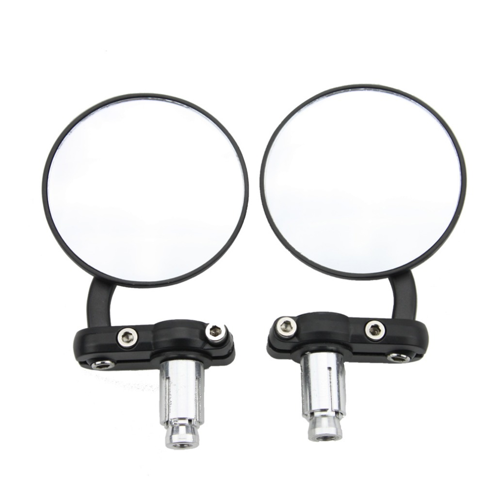 GOOFIT Motorcycle Mirror Aluminum Black 22mm Handle Bar End Rearview Side Mirrors Motor Accessories E036-017