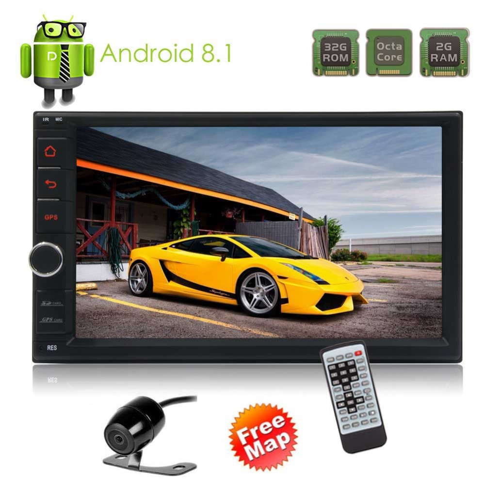 Двойной Дин электроники в тире gps навигации головное устройство Octa Core Android 8,1 стерео радио Авторадио Bluetooth 2 г 32 г