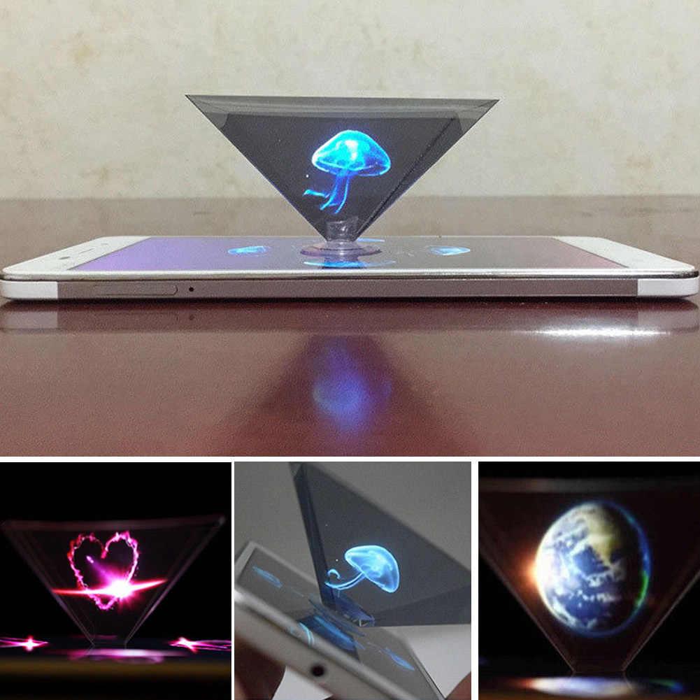 Video 3D Tampilan Datar Lipat Hologram Projector Universal Miniature untuk Smart Phone