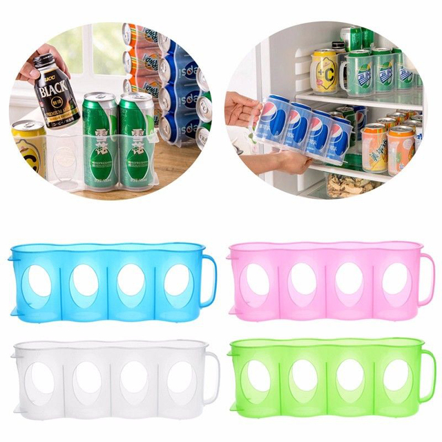 Ordinaire Useful Refrigerator Storage Box Kitchen Accessories Beverage Can  Space Saving Cans Finishing Four Case Organizer