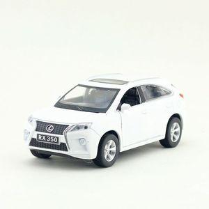 Image 2 - Внедорожник Lexus RX350 в масштабе 1:32, Спортивная Игрушечная машина, модель литая автомобиля, звуковой и световой сигнал, образовательная коллекция, подарок для ребенка
