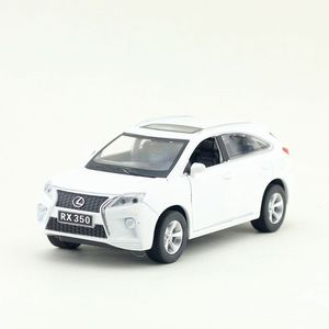 Image 2 - Scala 1:32 Lexus RX350 SUV Sport Toy Car Diecast modello di veicolo tirare indietro suono e luce collezione educativa regalo per bambino
