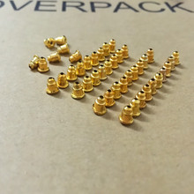 ES3 50 unids Bullet Alloy Earring Back Ear Studs Caps Gold Color DIY Jewelry Findings Accessories Jewelry Making Bead