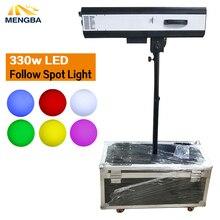 Neueste 330w LED Folgen Spot Licht Mit Power 330 W LED Folgen Tracker mit Flug Fall Für Hochzeit/ theater Leistung