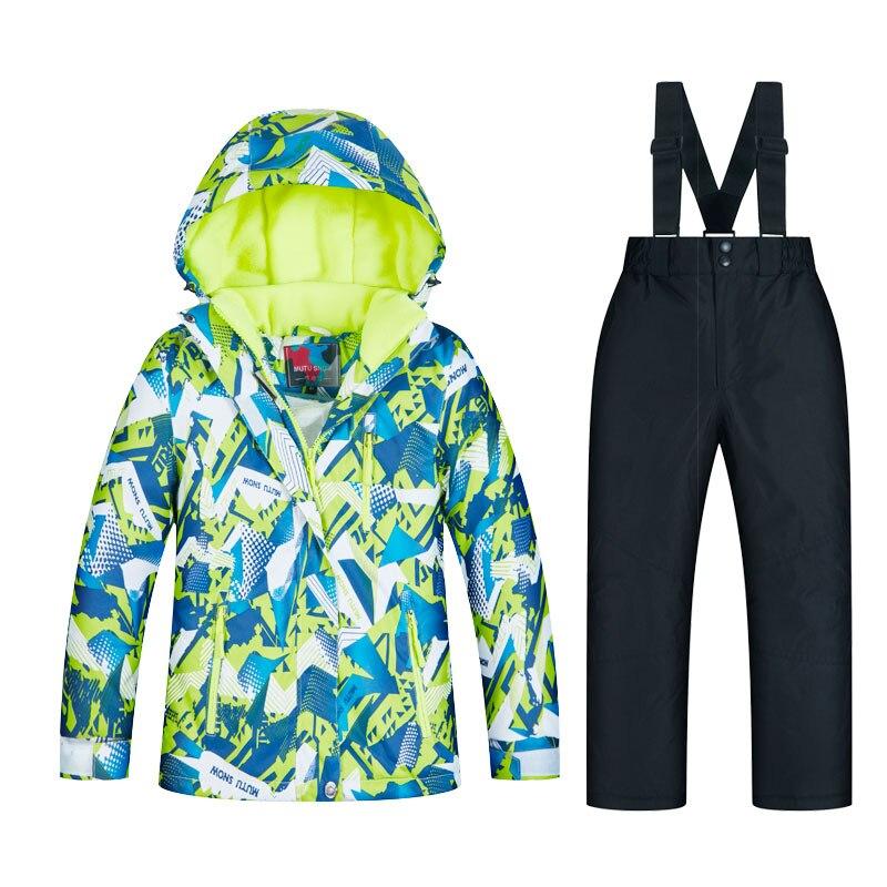 Combinaisons de Ski imperméables Super chaud 2019 hiver veste et pantalon enfants Ski et snowboard vêtements veste de neige pour les marques de garçons - 3