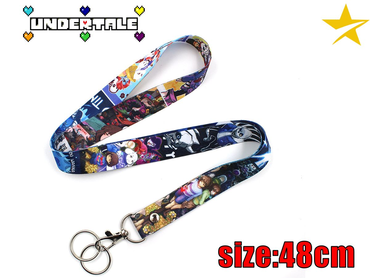 Hot Game Undertale Cospaly Satin Cell Phone Rope Chain Strap Clip Cord Charm Lariat Lanyard Keychain Keyring Gift