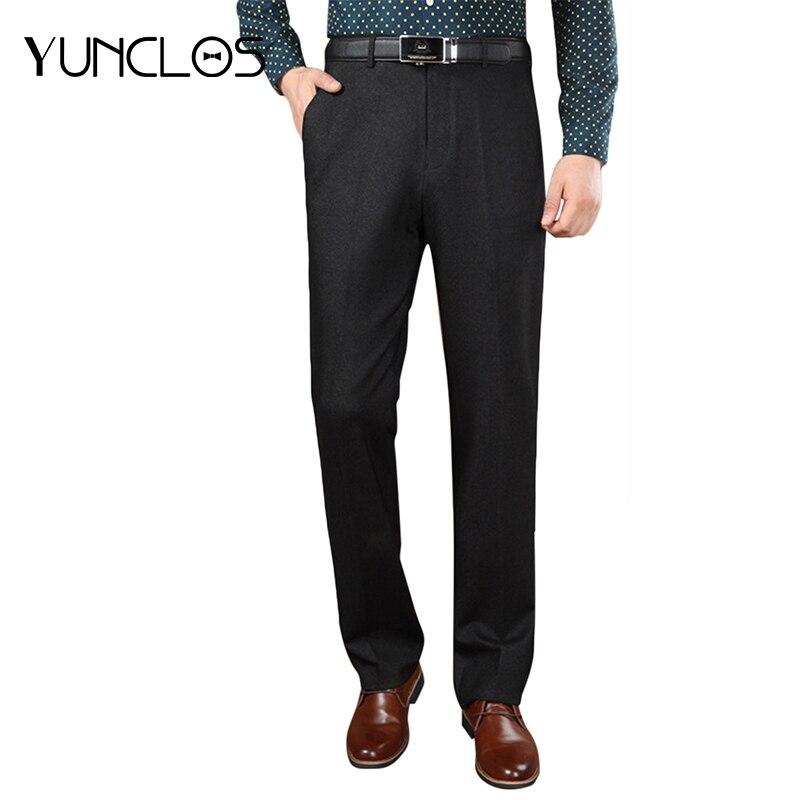 Llegada Pantalon Negocios Hombres Pantalones 2019 Casual Nueva Gris  Completa Yunclos Clásico Longitud Diseño Traje Hombre Oscuro ... ede85d587b6