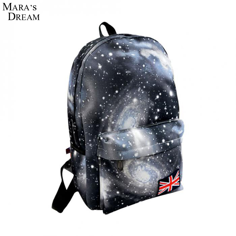 Mara's Dream new Printing Backpack School Bags For Teenagers Stars Universe Space School Book Backpacks British Flag Bag fashion unisex stars universe space printing backpack school book backpacks british flag shoulder bag night sky backpacks h308