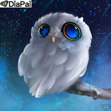 DiaPai Diamond Painting 5D DIY 100% Full Square/Round Drill Cartoon owl Embroidery Cross Stitch 3D Decor A24779