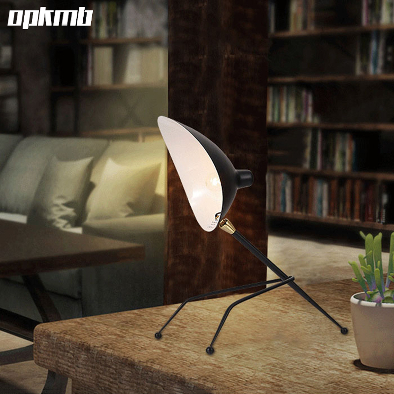 Nordic claws art deco table light  modern brief wrought  iron desk lamp study light  bedroom bedside light with E14 bulb