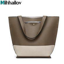 Новый 2018 женщин сумки большой искусственная кожа высокого качества письмо женская сумка дизайнер Bolsos Mujer SAC основной сумки xs-340