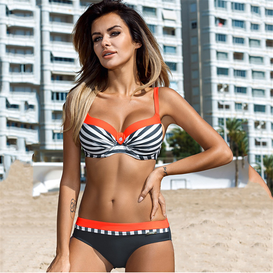 HTB1vtQInH5YBuNjSspoq6zeNFXaE YICN Sexy Print Swimwear Women Bikini Set 2018 New Push Up biquini Female Swimsuit Brazilian Bathing Suit bathers Beach Swimming