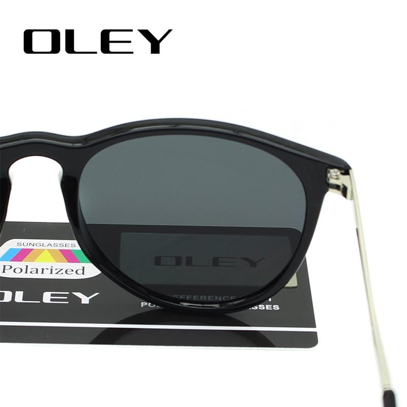 OLEY gafas de sol polarizadas mujeres estilo retro marco de metal - Accesorios para la ropa - foto 5