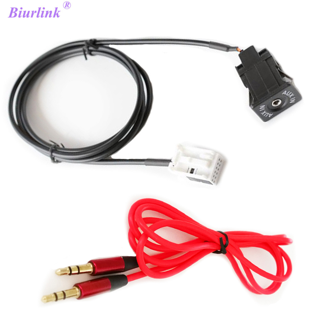 Biurlink Car Stereo Aux Adapter 3 5mm Jack Aux In Audio: Biurlink Car Radio RD4 RD45 DIY 12Pin Socket To 3.5MM Jack