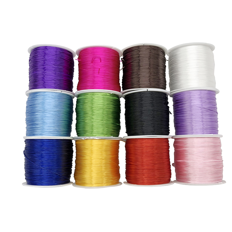 50M/Roll 0.8-1mm Color Flexible Elastic Crystal Line Rope Cord For Jewelry Making Beading Bracelet Wire Fishing Thread Rope
