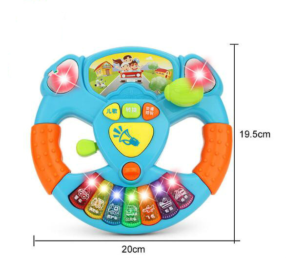 2019 Promotion Toy Musical Instruments For Kids Baby Steering Wheel Musical Handbell Developing Educational Toys in Baby Rattles Mobiles from Toys Hobbies