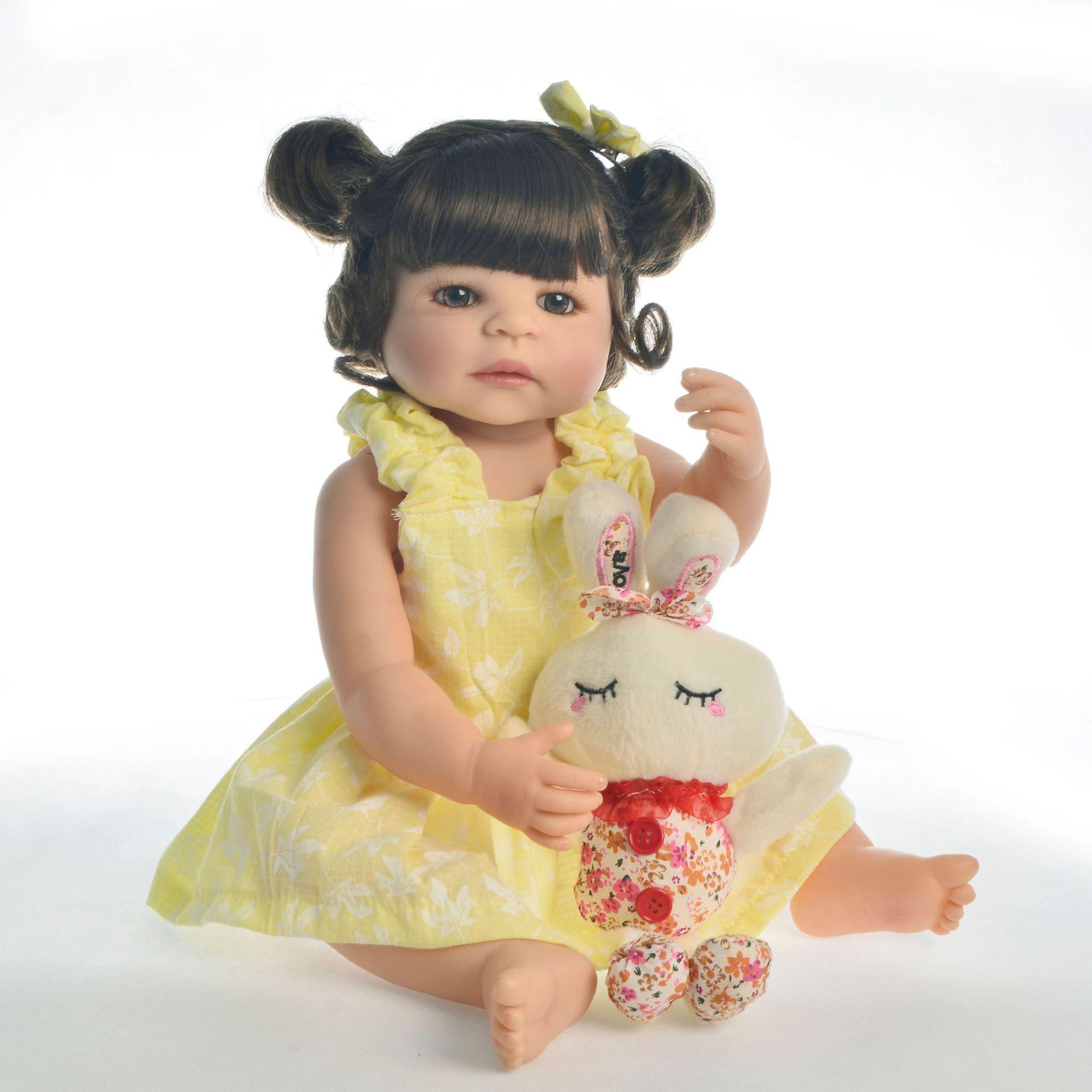 Bebes reborn doll 55cm Full Silicone reborn baby doll pretty girl toddler boneca reborn surprise gift l.o.l doll toys