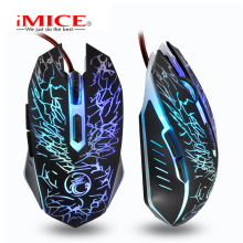 imice Mice Wired Gaming Mouse USB Gamer mouse 6 Buttons Professional Wired Gaming Mouse 2400 DPI Optical LED gaming mouse цена и фото
