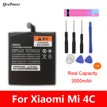 Original BM35 Mobile Phone Battery For Xiaomi mi 4C Real Capacity 3000mAh Replacement Li-ion Battery + Tool qrxpower original bm37 replacement battery for xiaomi mi 5s plus real capacity 3800mah li ion phone battery tools sticker