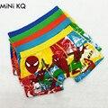 5 pçs/lote 2016 Pugilistas do Roupa Interior de Algodão Do Bebê das Crianças Bonitos Dos Desenhos Animados Do Homem Aranha Meninos Underwear Calcinhas Briefs Tamanho: 3-11years