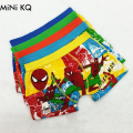 5pcs/Lot 2016 Cute Cartoon Children's Underwear Cotton Baby Boxers Spiderman Boys Underwear Panties Briefs Size:3-11years